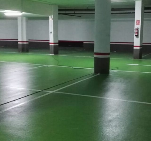Slurry sellado poliuretano para sistema parking en Pivema